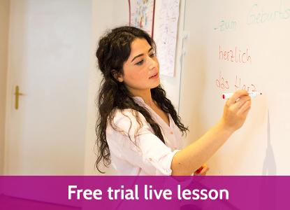 Live Online German courses: Join our free trial live lesson!