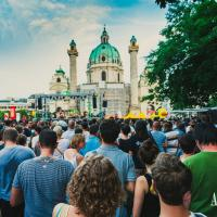 Music Festival on the Vienna Karlsplatz