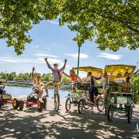 Rent a bike and ride along the most beautiful alley in Prater