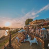 Beach bar next to the Danube
