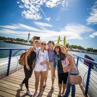 Enjoy a day out at the Danube Island while ...