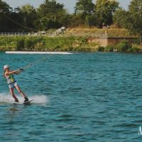 Try out wakeboarding on the Danube river