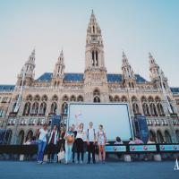 Vienna´s Filmfestival happening in front of the Rathausplatz