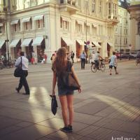 Going shopping at `Graben`