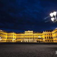 Schoenbrunn Palace at night
