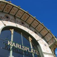Art Nouveau metro station at Karlsplatz